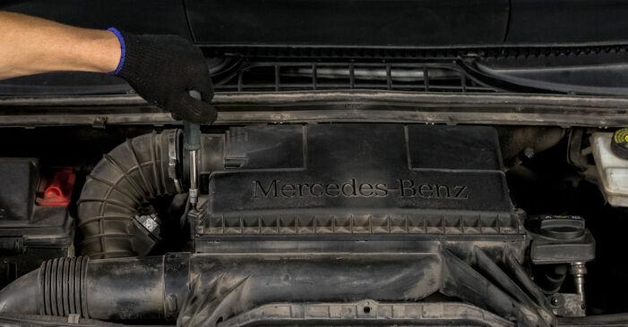 Wechseln Luftfilter am MERCEDES-BENZ VITO Bus (W639) 111 CDI 2.2 (639.701) 2006 selber