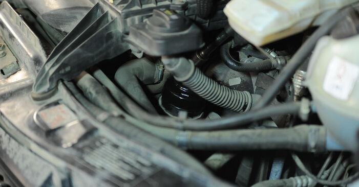 Kā nomainīt MERCEDES-BENZ VITO Autobuss (W639) 115 CDI 2.2 2004 Eļļas filtrs - pakāpeniskās rokasgrāmatas un video ceļveži
