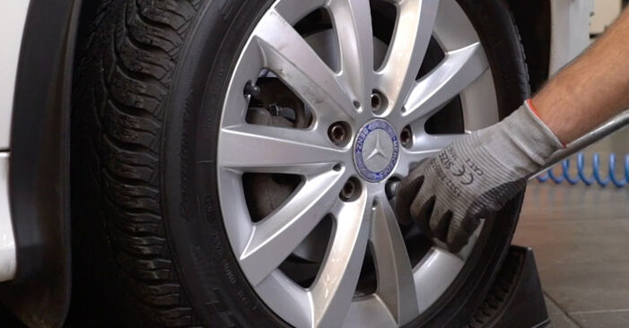 How to remove MERCEDES-BENZ VITO 116 CDI 2.2 2007 Brake Discs - online easy-to-follow instructions