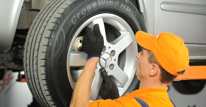 How to replace Brake Discs on MERCEDES-BENZ VITO Bus (W639) 2008: download PDF manuals and video instructions