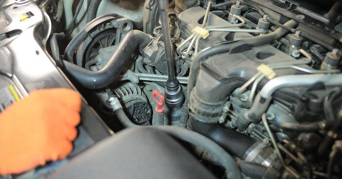 Ölfilter Ihres Volvo XC90 1 2.4 D5 2010 selbst Wechsel - Gratis Tutorial