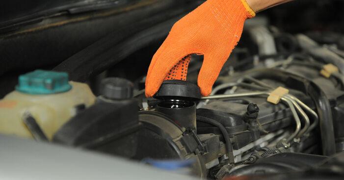 Wie Ölfilter VOLVO XC90 I (275) 2.5 T AWD 2003 austauschen - Schrittweise Handbücher und Videoanleitungen