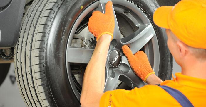 Wie schwer ist es, selbst zu reparieren: Bremsbeläge Volvo XC90 1 2.4 D3 / D5 2008 Tausch - Downloaden Sie sich illustrierte Anleitungen