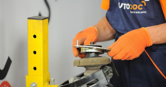 Kiek užtrunka keitimas: Volvo XC90 1 2010 Amortizatoriaus Atraminis Guolis - informatyvi PDF instrukcija