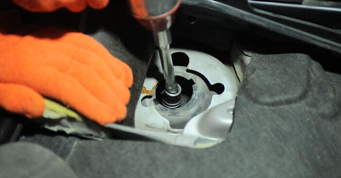 Volvo XC90 1 2.5 T AWD 2004 Amortizatorius keitimas: nemokamos remonto instrukcijos