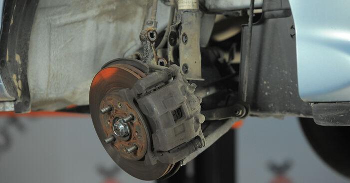 Kaip pakeisti HONDA Jazz II Hatchback (GD_, GE3, GE2) 2005 Amortizatoriaus Atraminis Guolis - patarimai ir gudrybės