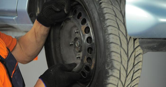 Honda Jazz gd 1.2 i-DSI (GD5, GE2) 2003 Amortizatoriaus Atraminis Guolis keitimas: nemokamos remonto instrukcijos