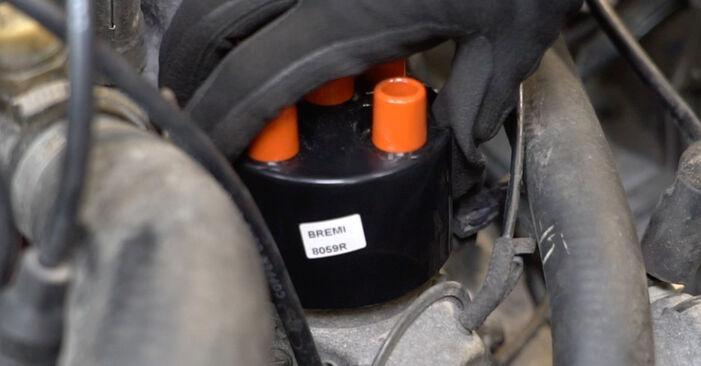Не е трудно да го направим сами: смяна на Факелна стартова система на VW GOLF II (19E, 1G1) 1.6 TD 1989 - свали илюстрирано ръководство