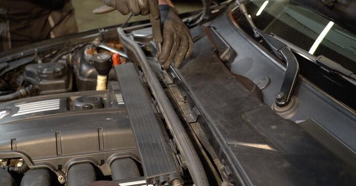 BMW E82 123d 2.0 2008 Pollen Filter replacement: free workshop manuals