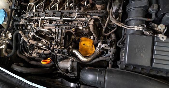 VW TOURAN 1.2 TSI Ölfilter ausbauen: Anweisungen und Video-Tutorials online