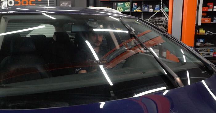 VW PASSAT 2005 Valytuvo gumelė išsami keitimo instrukcija