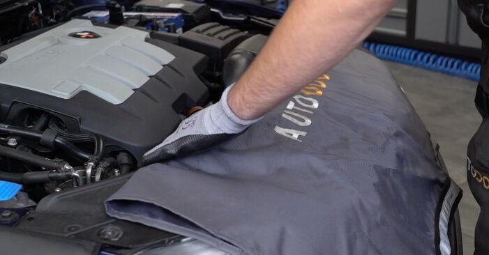 Wie Luftfilter VW Passat Variant (3C5) 2.0 TDI 16V 2006 austauschen - Schrittweise Handbücher und Videoanleitungen