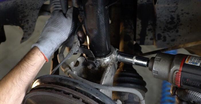Wie schwer ist es, selbst zu reparieren: Stoßdämpfer Passat B6 Variant 1.4 TSI EcoFuel 2011 Tausch - Downloaden Sie sich illustrierte Anleitungen