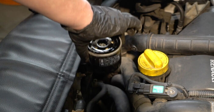 Reemplace Filtro de Aceite en un Renault Clio 3 2005 1.5 dCi usted mismo