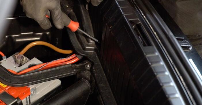 Kako dolgo traja menjava: Blazilnik na BMW E82 2006 - informativni PDF priročnik