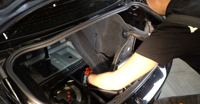 Kako težko to naredite sami: Blazilnik zamenjava na BMW E82 120i 2.0 2012 - prenesite slikovni vodnik