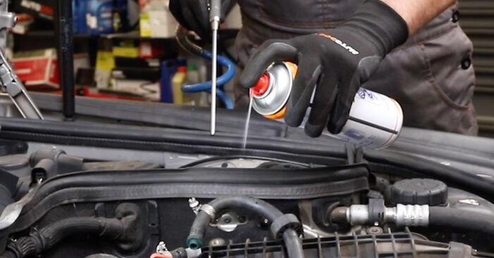 Austauschen Anleitung Kraftstofffilter am Mercedes W211 2004 E 220 CDI 2.2 (211.006) selbst