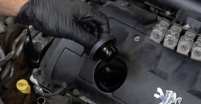 PEUGEOT 207 2013 Ölfilter Schrittweise Anleitungen zum Wechsel von Autoteilen