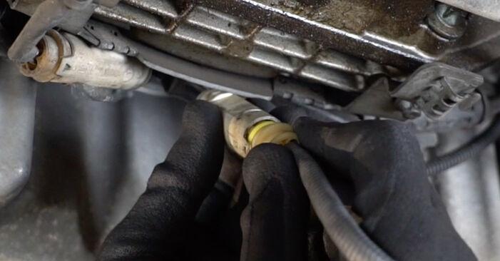 Стъпка по стъпка препоруки за самостоятелна смяна на Mercedes W203 2005 C 200 CDI 2.2 (203.007) Ламбда сонда
