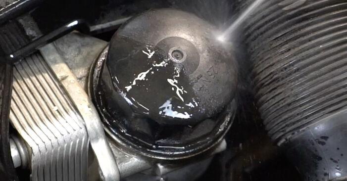 Substituindo Filtro de Óleo em Mercedes W203 2002 C 220 CDI 2.2 (203.006) por si mesmo