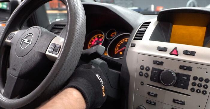 Kiek užtrunka keitimas: Opel Zafira B 2013 Oro filtras, keleivio vieta - informatyvi PDF instrukcija