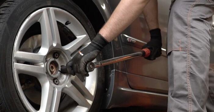Austauschen Anleitung Bremsbeläge am Audi A4 B7 Limousine 2004 2.0 TDI 16V selbst