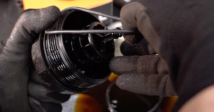 BMW 3 SERIES 2012 Filtre à Huile manuel de remplacement étape par étape
