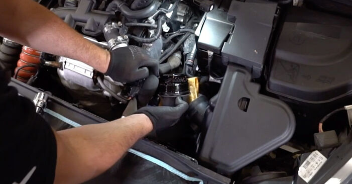 Step-by-step recommendations for DIY replacement Peugeot 308 I 2010 1.6 HDi Oil Filter