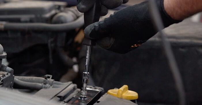Schrittweise Anleitung zum eigenhändigen Ersatz von Opel Astra G CC 1999 1.7 DTI 16V (F08, F48) Zündkerzen