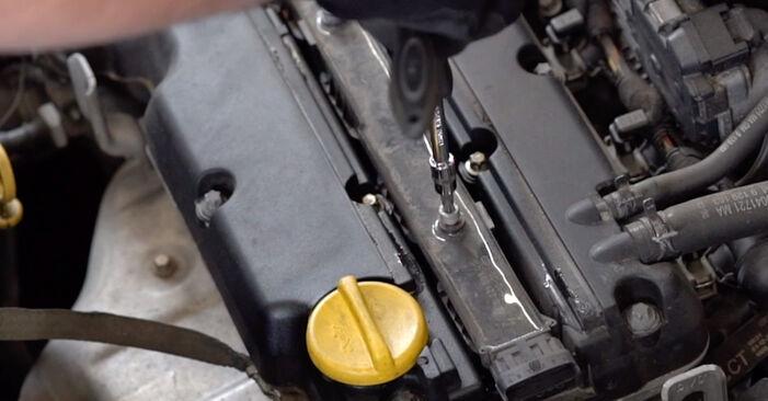 Ersetzen Sie Zündkerzen am OPEL Astra G CC (T98) 2.0 DTI 16V (F08, F48) 2001 selber