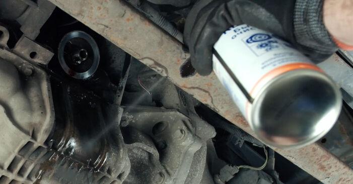 Austauschen Anleitung Ölfilter am Ford Fiesta Mk5 2001 1.4 TDCi selbst