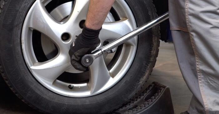 Ile czasu zajmuje wymiana: Końcówka drążka kierowniczego poprzecznego w Peugeot 206 cc 2d 2008 - pouczająca instrukcja w formacie PDF