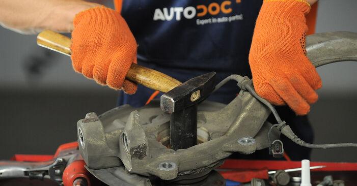 Schritt-für-Schritt-Anleitung zum selbstständigen Wechsel von Audi A4 b7 2007 2.0 TFSI quattro Radlager