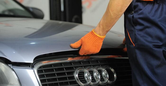 Πώς να αλλάξετε Τακάκια Φρένων σε Audi A4 b7 2002 - δωρεάν εγχειρίδια PDF και βίντεο οδηγιών