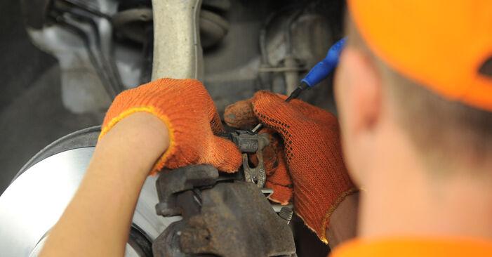 AUDI A4 2009 Τακάκια Φρένων: εγχειρίδιο αντικατάστασης βήμα προς βήμα