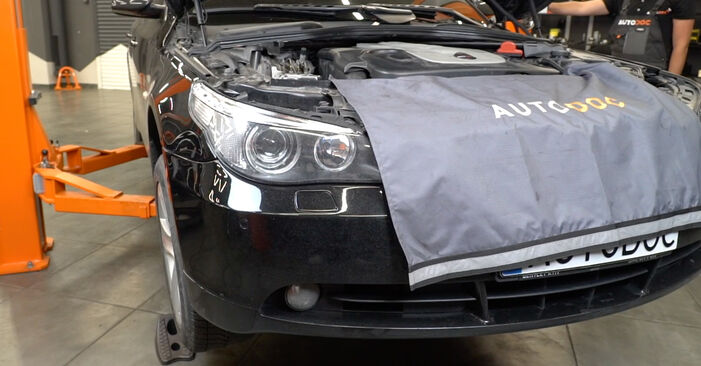 Bytte BMW E60 525d 2.5 2003 Endeledd: gratis verkstedsveiledning