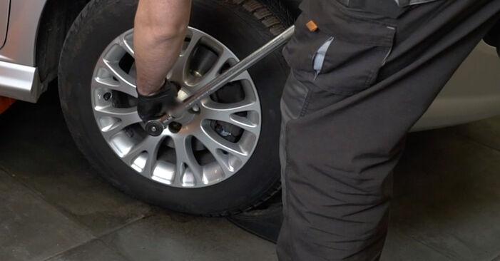 Kiek užtrunka keitimas: Fiat Punto 199 2013 Skersinės vairo trauklės galas - informatyvi PDF instrukcija
