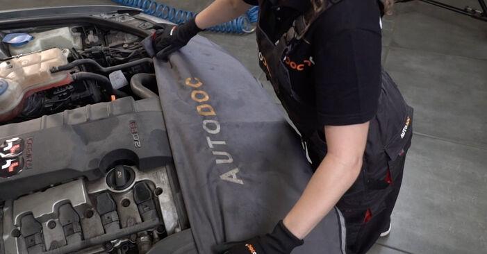 Austauschen Anleitung Domlager am Audi A4 b7 2004 2.0 TDI selbst