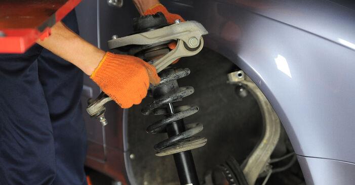 Wie schwer ist es, selbst zu reparieren: Stoßdämpfer Audi A4 b7 1.8 T 2008 Tausch - Downloaden Sie sich illustrierte Anleitungen