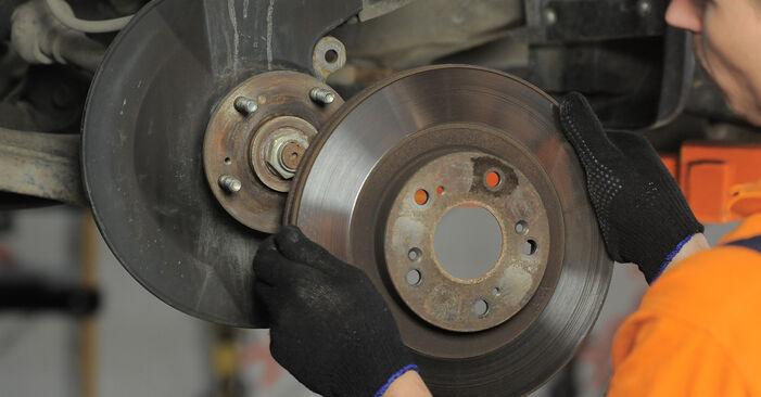 Bremsscheiben Honda CR-V II 2.0 2003 wechseln: Kostenlose Reparaturhandbücher