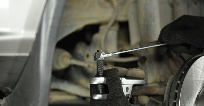 Så lång tid tar det att byta Styrled på Nissan X Trail t30 2009 – informativ PDF-manual