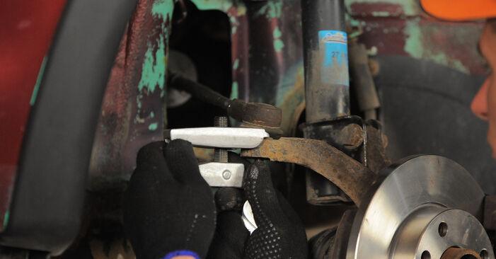 Wie schwer ist es, selbst zu reparieren: Spurstangenkopf Opel Corsa B 1.4 i 16V (F08, F68, M68) 1999 Tausch - Downloaden Sie sich illustrierte Anleitungen