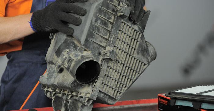 Schritt-für-Schritt-Anleitung zum selbstständigen Wechsel von Honda CR-V II 2002 2.4 Luftfilter