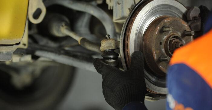 Austauschen Anleitung Spurstangenkopf am Toyota Yaris p1 2002 1.0 (SCP10_) selbst