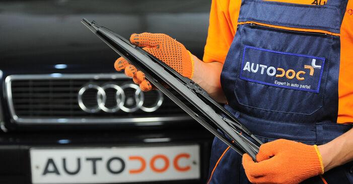Kaip pakeisti Valytuvo gumelė la Audi 80 b4 1991 - nemokamos PDF ir vaizdo pamokos