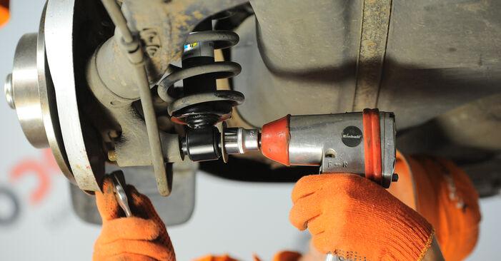 Wie schwer ist es, selbst zu reparieren: Federn Audi 80 B4 1.9 TD 1993 Tausch - Downloaden Sie sich illustrierte Anleitungen