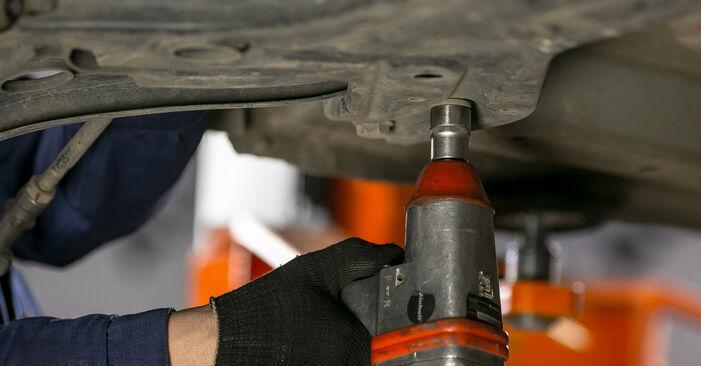 Querlenker Mitsubishi Colt Z30 1.5 DI-D 2004 wechseln: Kostenlose Reparaturhandbücher
