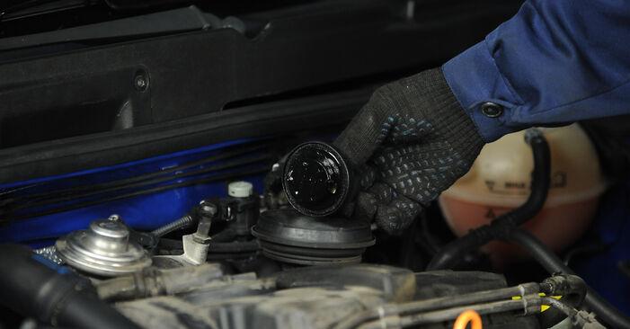 Wechseln Ölfilter am VW Lupo (6X1, 6E1) 1.4 16V 2001 selber