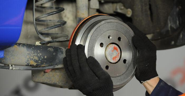 VW LUPO 2005 Комплект спирачна челюст стъпка по стъпка наръчник за смяна