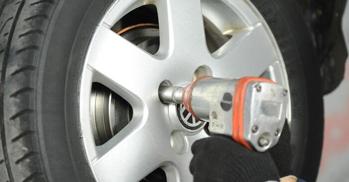 Schritt-für-Schritt-Anleitung zum selbstständigen Wechsel von VW Lupo 6x1 2003 1.4 TDI Bremstrommel